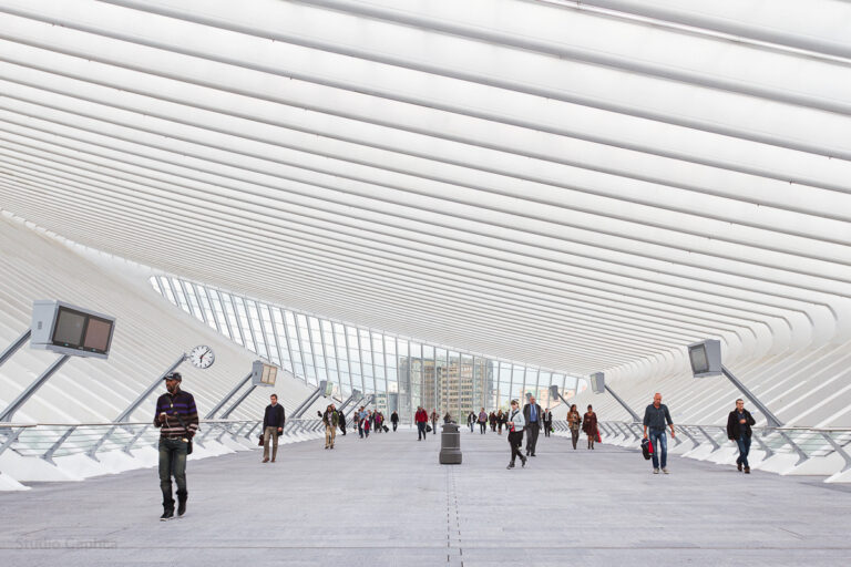 Architectuur_persoon_luik_station_Guillemins_caphca_Diepte